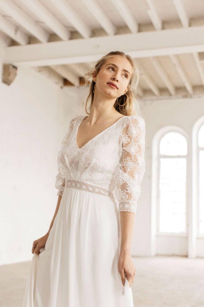 Lambert Créations Robes De Mariées Collection 2022 Flocon3